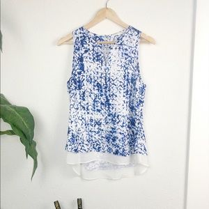 Violet + Claire tank top with blue detail